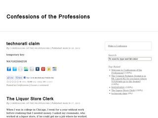 Confessions of the Professions