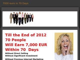 7000 euro in 70 Days