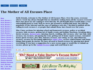 The Mother of All Excuses Place