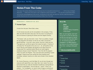 Notes From the Cube