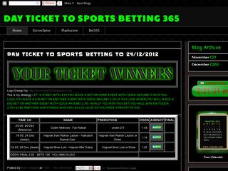 DAY TICKET TO SPORTS BETTING 365