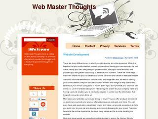 Webmaster Thoughts